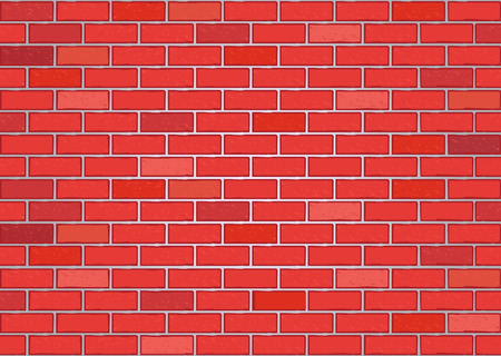 Vector image of a red brick wall