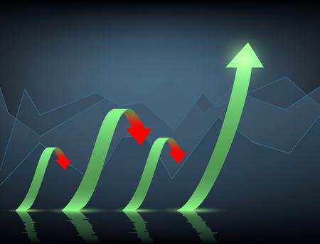 surplus: Minimal infographics on a dark blue background