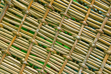vintage weaving: Natural background of wooden weaving Stock Photo