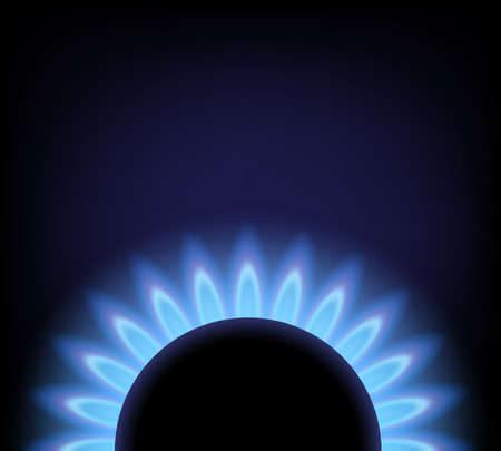 blue flame: Vector background of blue flame