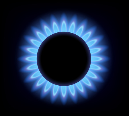 Vector background of blue flame