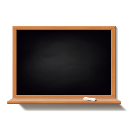 Black school board isolated on white background Vector