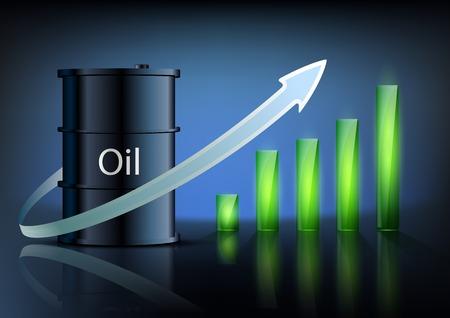 barril de petr�leo: barril de petr�leo y de negocios gr�fico Vectores