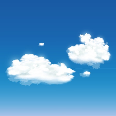 vector background with clouds Vector