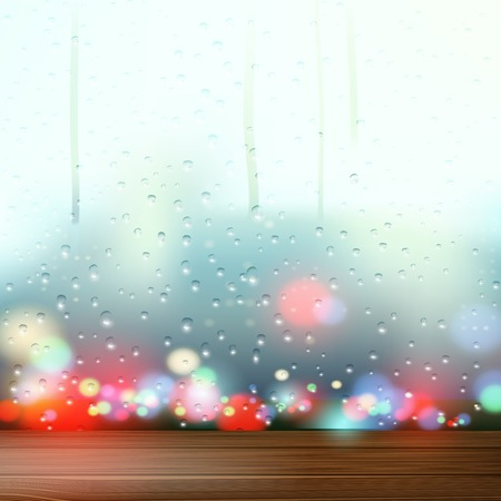 condensation: raindrops on the window Illustration