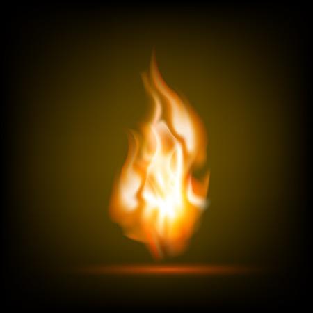 Fire flames on a black background Illustration
