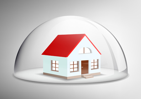 glass dome: house under a glass dome
