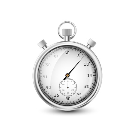 vector stopwatch on white background Vector