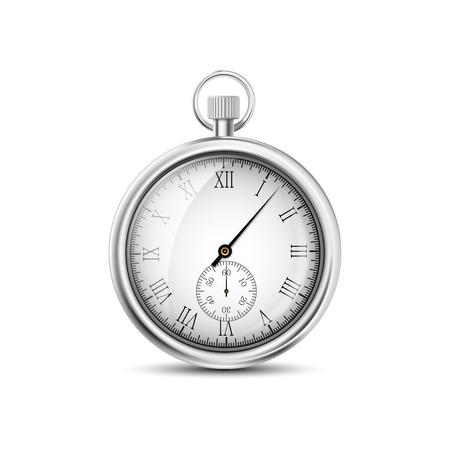 白い背景の上ベクトル懐中時計  イラスト・ベクター素材