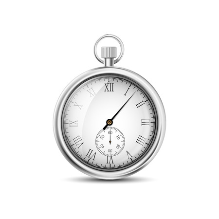 vector pocket watch on a white background Illustration