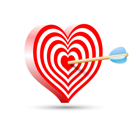 love target: target in the form of heart and arrow