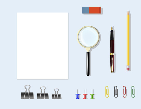 office supplies: office supplies on the table