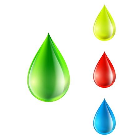 dew drop: vector set of colored drops
