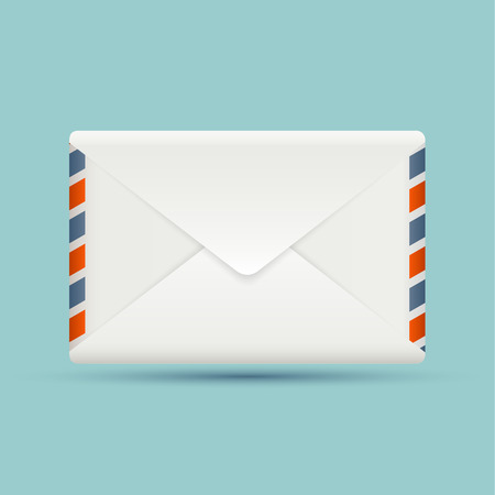 grungy email: blank envelope