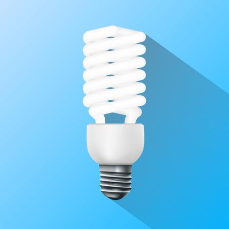 bombillo ahorrador: l�mpara ahorro de energ�a. Gr�ficos planos.