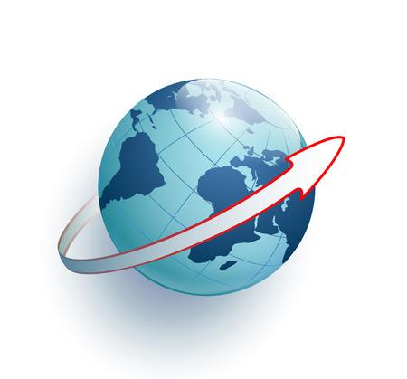 Earth and arrow around it Banco de Imagens - 36895264