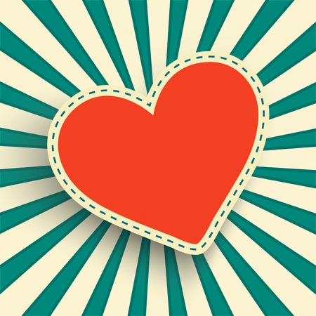 retro background with a heart frame Vector