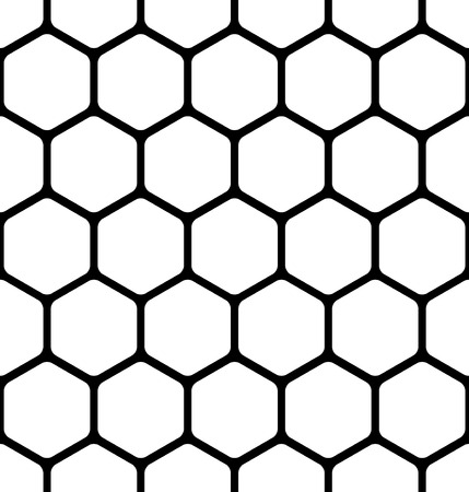grille: seamless pattern consists of a honeycomb Illustration