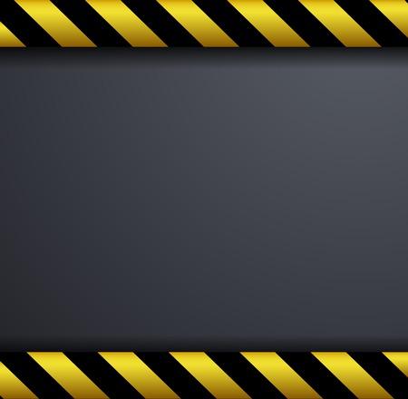 hazard stripes: Metal warning vector background