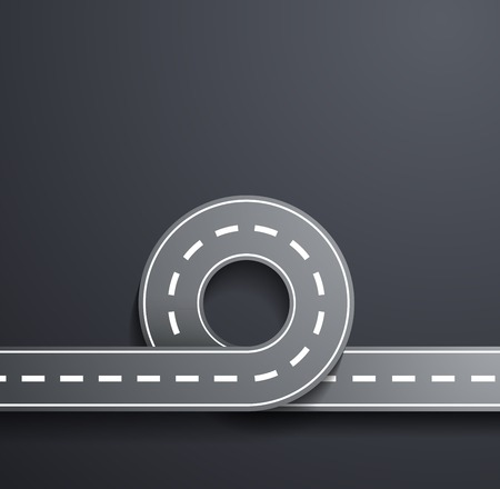road on a gray background Vector