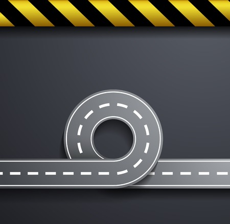 road marking: road on a gray background