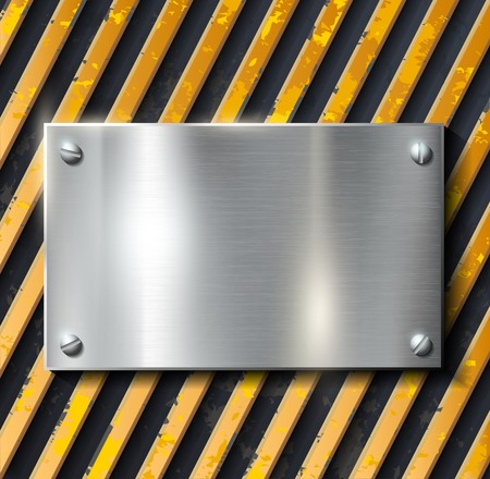 caution sign: Metal warning vector background