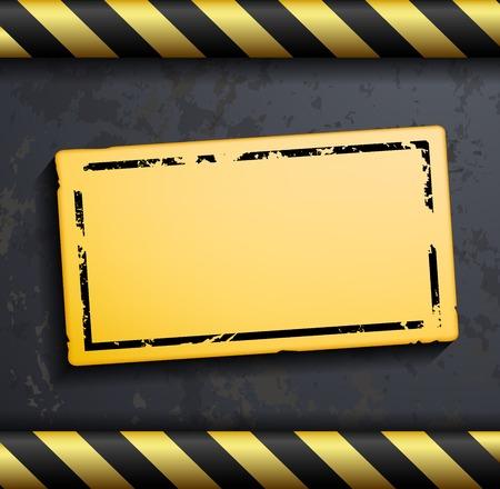 construction barrier: Metal warning vector background
