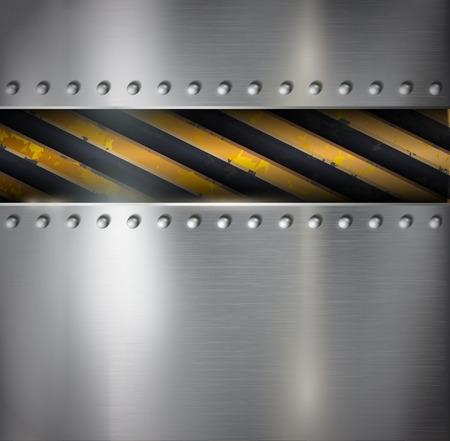 Metal warning vector background Vector