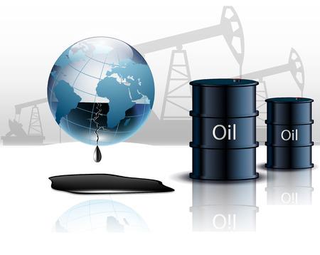 Pompe à huile plate-forme pétrolière énergie machine, industriel et de barils de pétrole Vecteurs