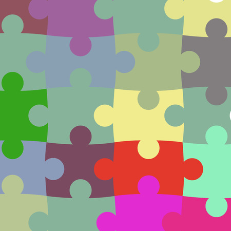 missing puzzle piece: vector texture of the puzzle