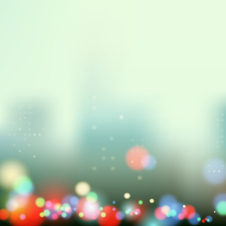 populated: evening city lights