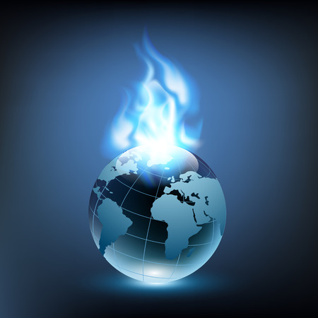 blue flame: blue flame and planet earth