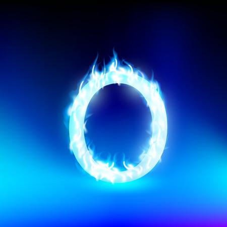 butane: vector letter with blue fire Illustration