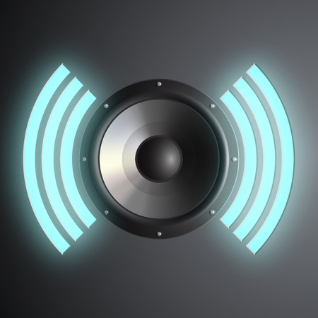 decibel: musical speaker Illustration