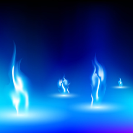 hobs: blue flame on a black background