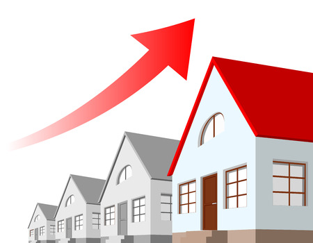 increase diagram: growth chart of real estate Illustration