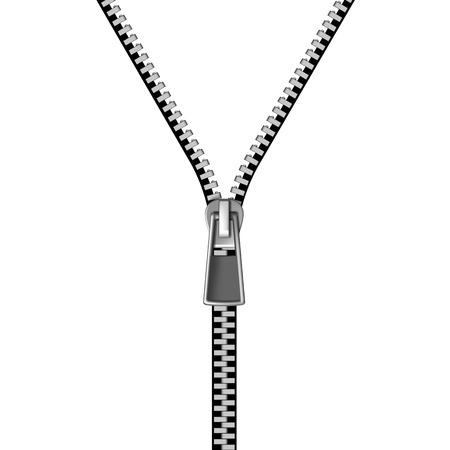 zipper isolated on white background