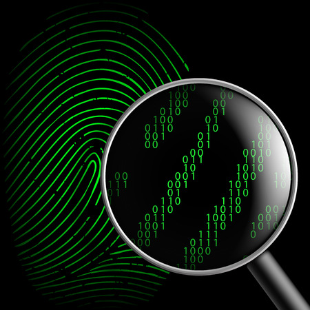 dos: fingerprint and magnifying glass