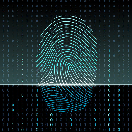 finger print: fingerprint scan