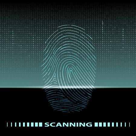 thumbprint: fingerprint scan