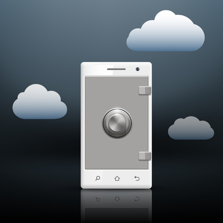 protection of information on your smartphone Vector
