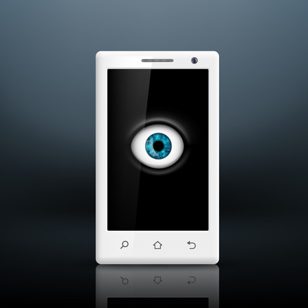 spying: Eye on the screen of your smartphone