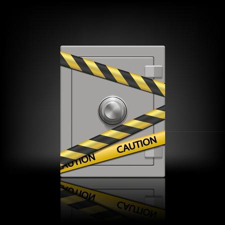 safety box: metal safety box