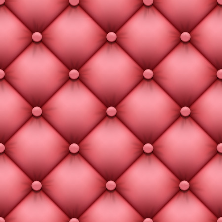 seamless background of leather upholstery Vector