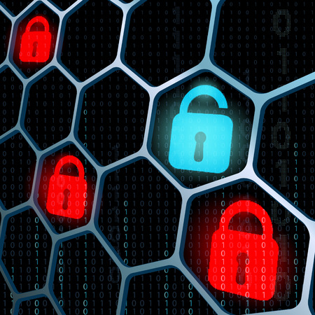 code lock: glowing locks security