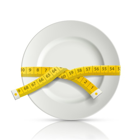 tailor centimeter around the plate