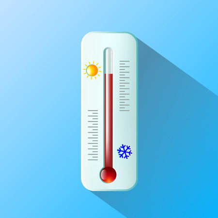 hotness: thermometer Flat design