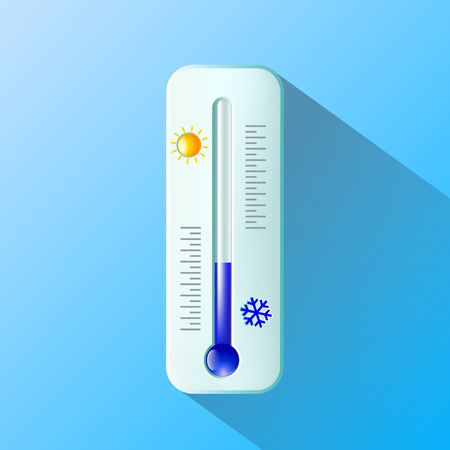 hotness: thermometer. Flat design