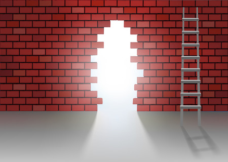 hole in one: alternative solution to the problems by a hole on wall