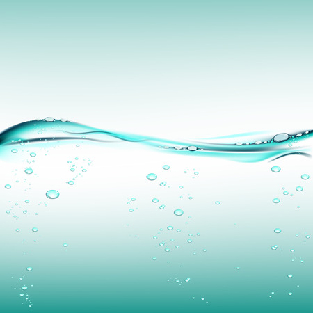 air bubbles: water with air bubbles